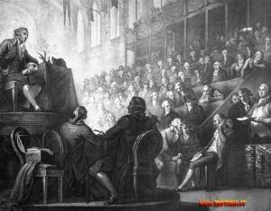 Pochi giorni dopo Luigi XVI viene costretto dalla folla, che ha invaso il palazzo reale — le Tuileries — a mettersi in capo un berretto frigio e a bere un bicchiere di vino con i rivoluzionari. Nella foto, una caricatura ispirata all'episodio.