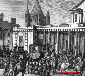 Il trasferimento dei reali al Tempio.
