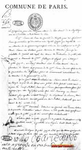 Verbale di una deposizione resa da Luigi XVII davanti alla Comune di Parigi.
