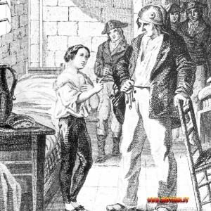 Luigi XVII e il suo carceriere Simon, finito sul patibolo subito dopo Robespierre. Perché? Forse sapeva troppe cose che qualcuno aveva interesse a nascondere.