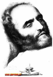 Naundorff sul letto di morte: era convinto di essere stato avvelenato.