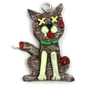zombie-christmas-ornament-Gingerbread-Zombie-Cat-Christmas-Ornament
