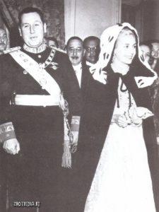 Evita con Peròn nel 1949. Si sono sposati il giorno di Natale del 1945